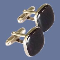 Anson Black and Silver Tone Cufflinks Cuff Links