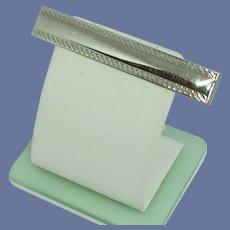 Swank Silver Tone Slide Tie Bar