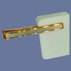 Gold and Silver Tone Alligator Tie Clip Bar