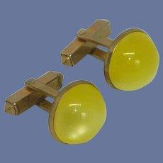 Anson Sun Yellow Gold Tone Cuff Links Cufflinks