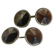 Mother of Pearl Abalone Shell Octagon Cufflinks Cuff Links