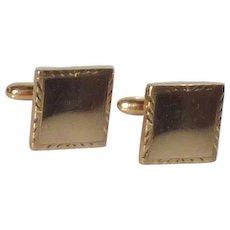 Rectangular Gold Tone Cufflinks Cuff Links