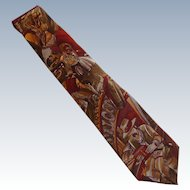 """Rocky Raccoon""  Beatles Silk Dress Tie"