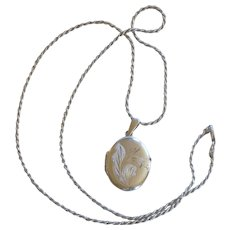 Silver Locket Pendant and Necklace