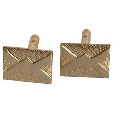 Gold Tone Rectangular Plain Cufflinks  Cuff Links