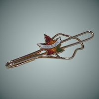 Vintage Vancouver Canada Maple Leaf Tie Bar