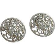 Tara Silver Tone Large Clip On Earrings