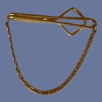 Swank Gold Tone 1930's Tie Bar Chain