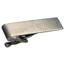 Sterling Silver Small Tone Tie Bar Clip