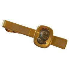 Anson Roman Warriors Gold Tone Tie Bar Clip