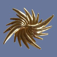 Sun Burst Gold Tone Large Pin