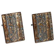 Timber Club Copper Cufflinks Cuff Links