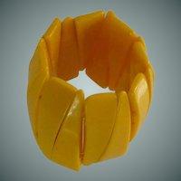 Bangle Cuff Bright Yellow Plastic Bracelet