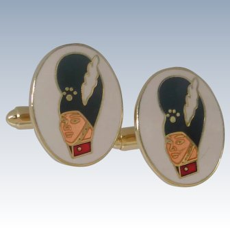Bearskin Cap Soldier Cufflinks Cuff Links