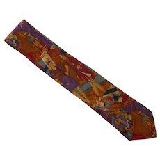 Giorgio Benelli Novelty Silk Italian  Dress Tie