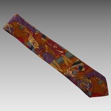 Giorgio Benelli Novelty Silk Italian  Dress Tie