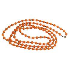 Winard Tangerine Orange Beaded Necklace