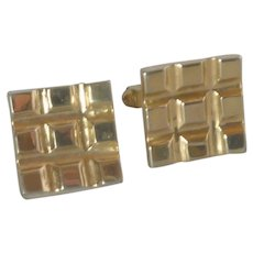 Square Gold Tone Cufflinks Cuff Links