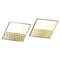 Rhombus Gold Tone Cufflinks Cuff Links