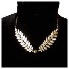 Fern Leaf Silver Tone Necklace