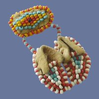 Beaded Handmade Moccasin Jewelry Pin
