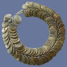 Unusual Antique Rolled Wire Bracelet