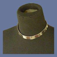 Silver Tone Mesh Choker Chain Necklace