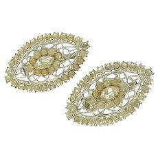 Overall Diamond Rhinestone Scatter Pins 1950's