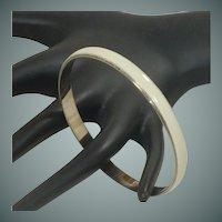 Enameled White Bangle Bracelet