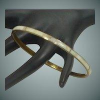 Mother of Pearl Bangle Brass Bracelet
