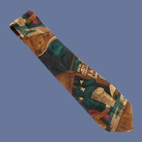 Mario Valentino Silk Tie Novelty Tie
