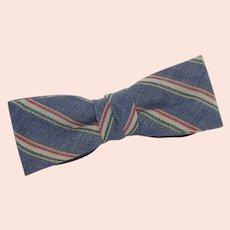 Blue Striped Royal Child Little Boy Toddler Bow Tie Bowtie