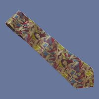 Zan Zara Novelty Girls Girls Girls Silk Tie