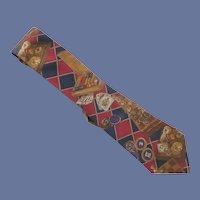 Roulette Novelty Silk Halston Tie