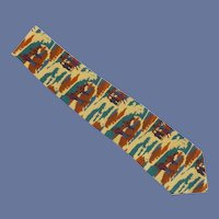 Golf Players in Knickers Novelty  Silk Tie
