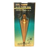 1970s Cal-Hank Solid Brass Plumb Bob IOB / NOS