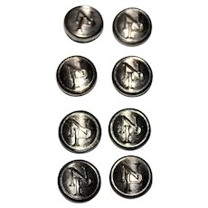 Northern Pacific Railroad Conductor Button Covers, Railroadiana