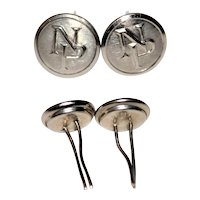 Northern Pacific Railroad Hat Buttons, Wire Back Buttons, Chin Strap Buttons, Railroadiana