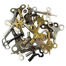 Lot of 23 Antique & Vintage Clock Keys