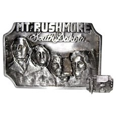 1987 Siskiyou Belt Buckle with Mount Rushmore
