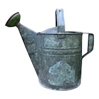 Vintage Galvanized Watering Can, Garden Décor