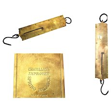 Chatillon 100 lbs Brass Hanging Spring Balance Scale