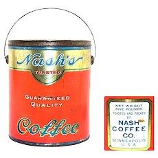 1920s Nash's 5-lb Coffee Tin