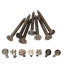 1940s Dated Railroad Nails, Railroadiana