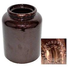 1880s Minnesota Stoneware Company, One Gallon Canning Jar