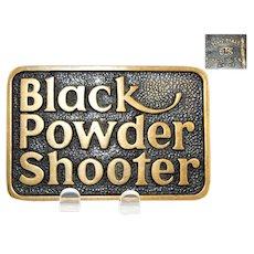 1978 BTS Brass Works Belt Buckle Black Powder Shooter