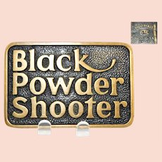 1978 BTS Brass Works Belt Buckle Black Powder Shooter