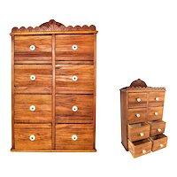 Vintage Hanging Spice Cabinet,  Spice Storage Cabinet