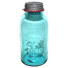 1930s Half Gallon Size Ball Canning Jar