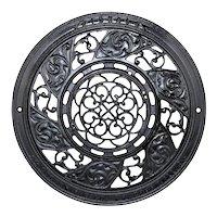 1890s Ideal Cast Iron Adjustable Floor Heat Grate